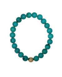 Ali Grace Jewelry - Blue Turquoise Gold Ball Bracelet - Lyst