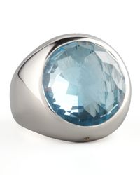 Monica Rich Kosann - Blue Topaz Cocktail Ring - Lyst