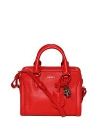 Alexander McQueen | Pink 'mini Padlock' Calfskin Leather Duffel Bag | Lyst