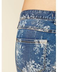 Free People | Blue Elle Printed Skinny | Lyst