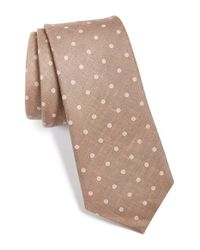 W.r.k. - Brown Dot Print Linen Tie for Men - Lyst