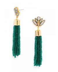 BaubleBar | Green Acid Fringe Tassel Drops - Emerald | Lyst