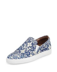 Tabitha Simmons - Blue Huntington Floral-Print Slip-On Sneakers - Lyst