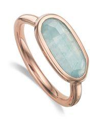 Monica Vinader | Blue Vega Aquamarine Ring | Lyst