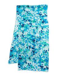 Calvin Klein | Blue Brushstroke Silk Scarf | Lyst