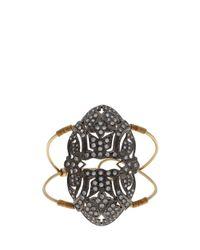 Maha Lozi | Gray Art Deco Cuff | Lyst