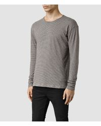 AllSaints - Gray Halam Crew Sweatshirt for Men - Lyst