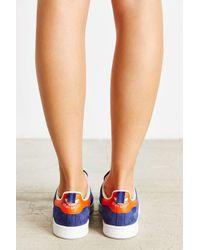 Adidas Originals | Blue Leather Nubuck Stan Smith Sneaker | Lyst