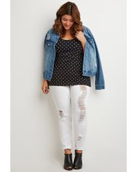 Forever 21 - Black Polka Dot Print Top - Lyst