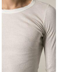 Rick Owens - White Draped T-Shirt for Men - Lyst