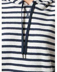 T By Alexander Wang - Blue Striped Hoodie - Lyst