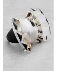 & Other Stories | Black Butterfly Ring | Lyst