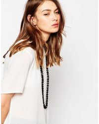 Ted Baker - Black Two Tone Bead Necklace - Lyst