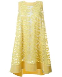 Tsumori Chisato - Yellow Embroidered Detail Loose Dress - Lyst