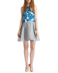 Tanya Taylor - Blue Kylie Printed Silkorganza Dress - Lyst