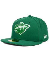 KTZ - Green Minnesota Wild C-dub 59fifty Cap for Men - Lyst