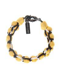 Missoni - Yellow Roped Double Ball Bracelet - Lyst