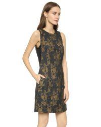 3.1 Phillip Lim - Yellow Brocade Cocktail Dress - Multicolor - Lyst