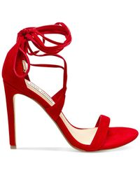 Steve Madden | Red Women's Presidnt Gilly Sandals | Lyst