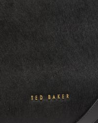 Ted Baker - Black Textured Leather Zip Tote Bag - Lyst