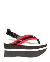 Marni - Black 70mm Neoprene Platform Sandals - Lyst