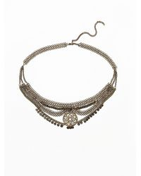 Free People | Gray Womens Newsha Metal Belt | Lyst