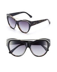 Kensie | Black 'frenchy' 52mm Cat Eye Sunglasses | Lyst