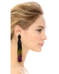 Oscar de la Renta | Blue Ombre Tassel Earrings - Bright Navy/ultraviolet | Lyst