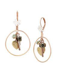 Betsey Johnson | Metallic Wanderlust Charm Drop Earrings | Lyst