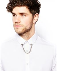 ASOS - Metallic Collar Tips with Triangle Diamond for Men - Lyst