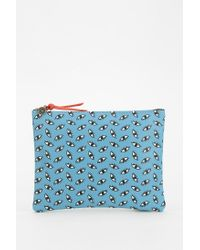 Falconwright - Blue Leather Clutch - Lyst