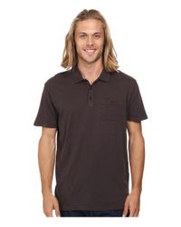 Quiksilver - Gray Voices Polo Knit Top for Men - Lyst