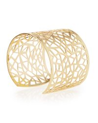 R.j. Graziano - Metallic Openwork Brass Cuff Bracelet - Lyst