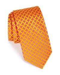 Ted Baker | Orange Floral Silk Tie for Men | Lyst