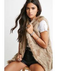 Forever 21 | Brown Faux Fur Vest | Lyst