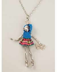 Servane Gaxotte - Metallic Monkey Doll Necklace - Lyst