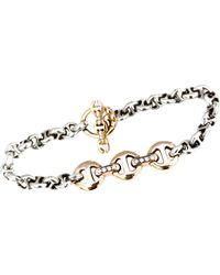 Hoorsenbuhs | Metallic Diamond & Rose Gold Id Bracelet | Lyst