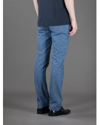 Giorgio Armani - Blue Straight Leg Jean for Men - Lyst