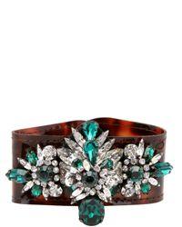 Shourouk | Green Atari Cuff Clear Bracelet | Lyst