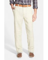 Tommy Bahama | Natural 'summerland Keys' Flat Front Linen Pants for Men | Lyst