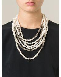 Rosantica | White 'griglio' Pearl Necklace | Lyst