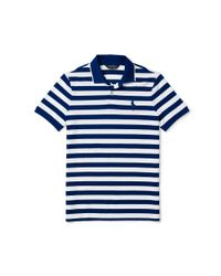 Ralph Lauren | White Slim-fit Striped Piqué Polo for Men | Lyst