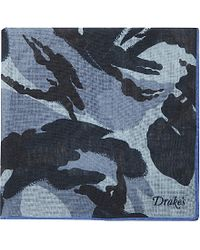 Drake's | Blue Camoflauge Pocket Square - For Men for Men | Lyst