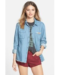 Billabong - Blue 'fade And Fly' Shirt - Lyst