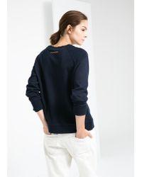 Mango - Blue M Sweatshirt - Lyst