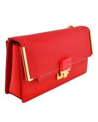 Lanvin - Red Partition Clutch Bag - Lyst