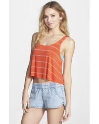 Rip Curl - Red 'borderline Tank - Lyst