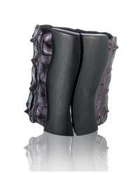 Nada Sawaya - Purple J17 - Crocodile Cuff With Magnetic Closure - Metallic Bordo - Lyst