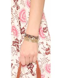 Shashi - Metallic Nugget Stretch Bracelet Set - Lyst