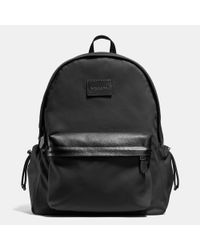 COACH | Black Metropolitan Rucksack In Pebble Leather | Lyst